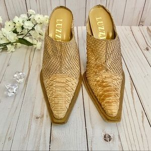Luzzi Pointed Toe Mules - Size 40